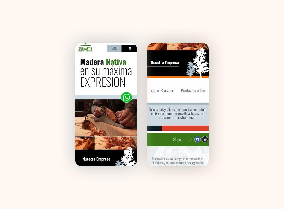 diseño de página web para Fábrica de Puertas San Martín